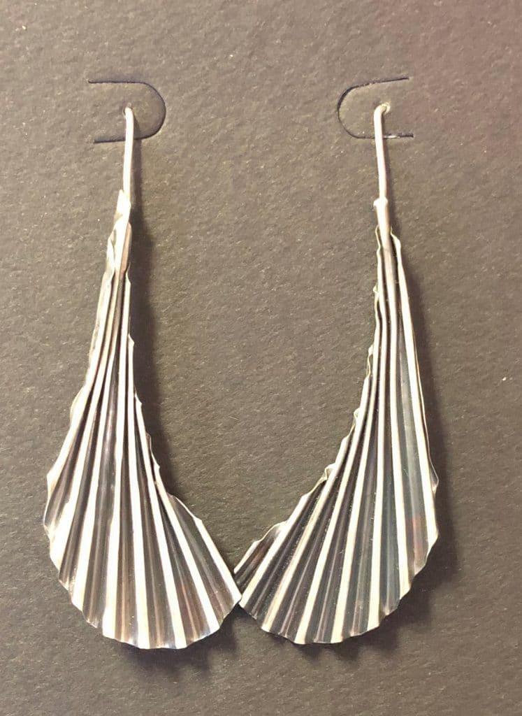 Sterling Silver Krinkle Earrings